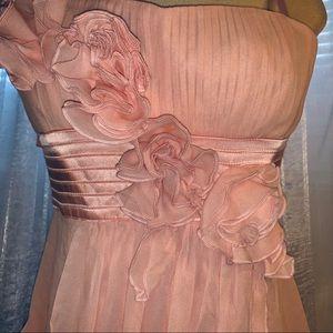 BCBG MAXAZRIA CHIFFON EMILY STRAPLESS DRESS SIZE 0